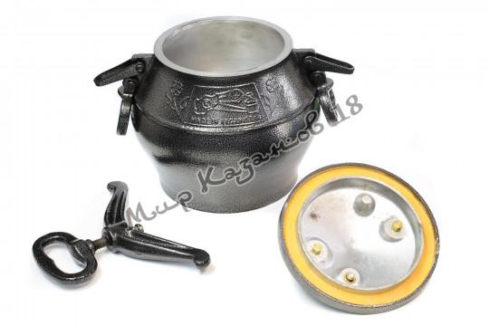 Афганский казан (графит) 8 л + подарок (силиконовая прокладка)