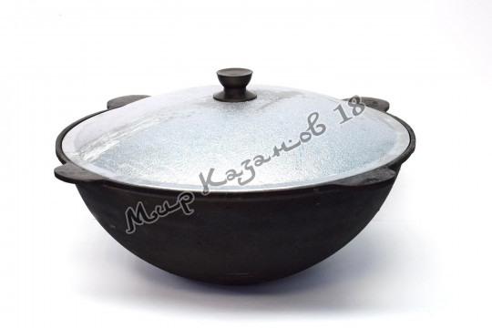 Узбекский чугунный казан круглое дно 8 л.