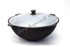Узбекский чугунный казан круглое дно 10 л.