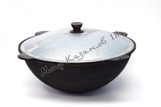 Узбекский чугунный казан круглое дно 10 л