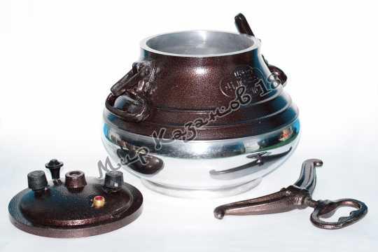 Афганский казан (двухцветный) 15 л + подарок (силиконовая прокладка)
