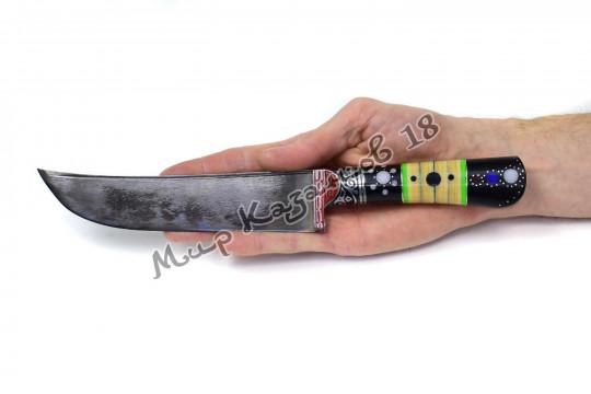 Пчак средний, рукоять Текстолит, гарда олово, сталь ШХ 15