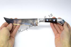 Пчак средний, рукоять Эбонит цельнометаллическая, сталь ШХ 15