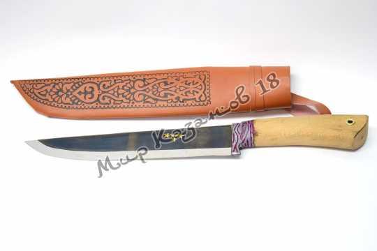 Пчак большой Шеф-нож, рукоять орех, сталь ШХ 15