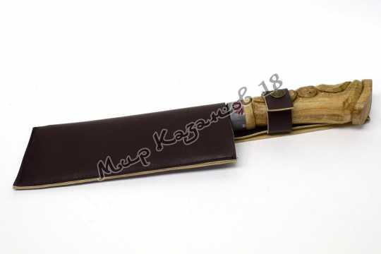 Нож-топорик для мяса, рукоять Дерево, сталь ШХ 15