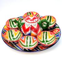 Чайный набор Риштанской керамической посуды Атлас