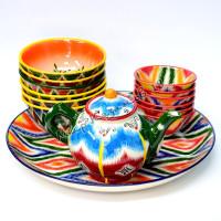 Комплект Риштанской керамической посуды Атлас