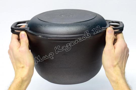 Кастрюля чугунная 4 л крышка-сковорода
