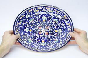 Ляган керамический 32 см Qora galam