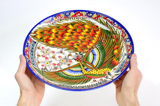 Ляган керамический 32 см Жар-птица