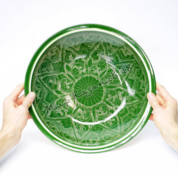 Ляган керамический 34 см Зеленый карандаш
