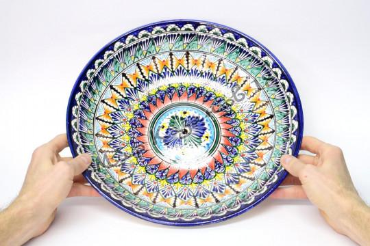 Ляган керамический 34 см Синий