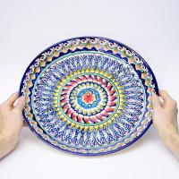 Ляган керамический 38 см Синий