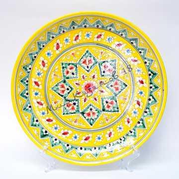 Ляган керамический 38 см Желтый