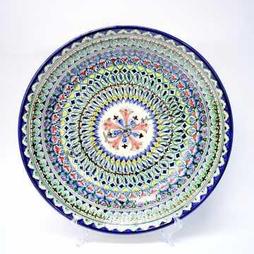 Ляган керамический 42 см Синий