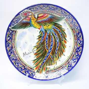 Ляган керамический 42 см Жар-птица