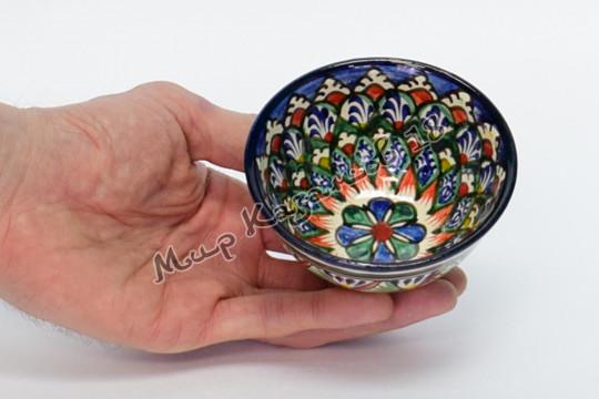 Пиала керамическая средняя Синяя