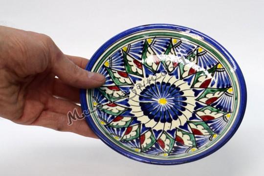Тарелка керамическая 15 см Синяя