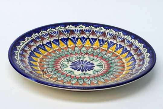 Тарелка керамическая 22 см Синяя