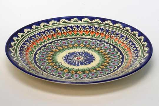 Тарелка керамическая 25 см Синяя