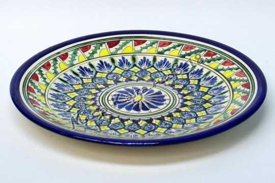 Тарелка керамическая 27 см Синяя