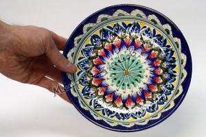 Тарелка керамическая глубокая 19 см Синяя