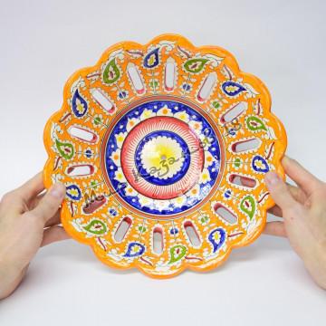 Фруктовница керамическая 28 см Цветная