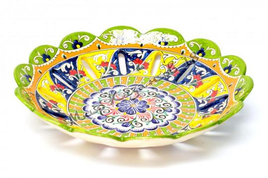 Фруктовница керамическая 32 см Цветная