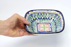 Салатник керамический квдратный 17,5 см Синий