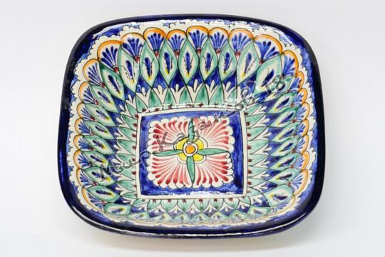 Салатник керамический квадратный 17,5 см Синий