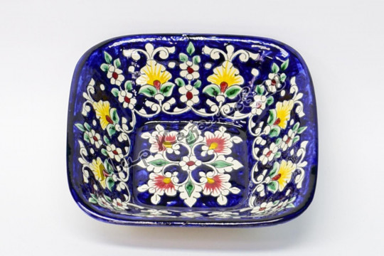 Салатник керамический квадратный 19 см Синий