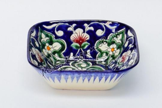 Салатник керамический квдратный 13,5 см Синий