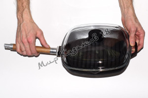 Сковорода-гриль чугунная BIOL 26х26 см