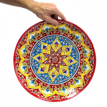 Ляган керамический 38 см Оригинальный, цвет красный