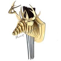 Настенный держатель для 6 шампуров Голова оленя
