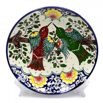 Ляган керамический 32 см Птицы