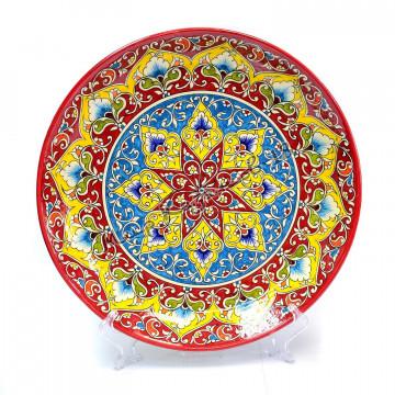 Ляган керамический 32 см Оригинальный, цвет красный