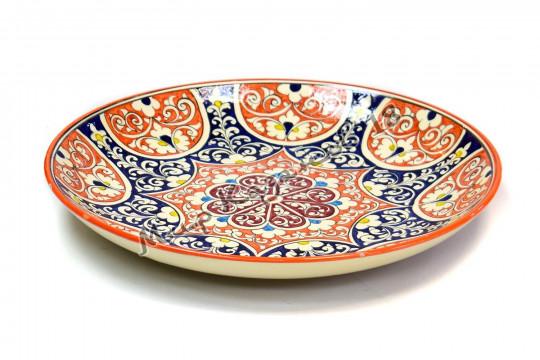 Ляган керамический 38 см Оригинальный, цвет оранжевый