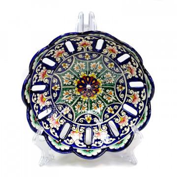 Фруктовница керамическая 24 см Синяя