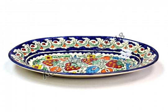 Салатник керамический лодочка 34 см Синий