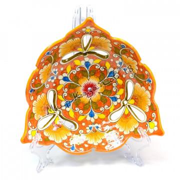 Фруктовница керамическая 26 см Оранжевая