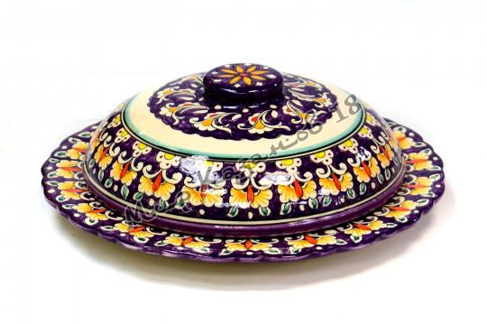 Пловница керамическая 24 см Фиолетовая