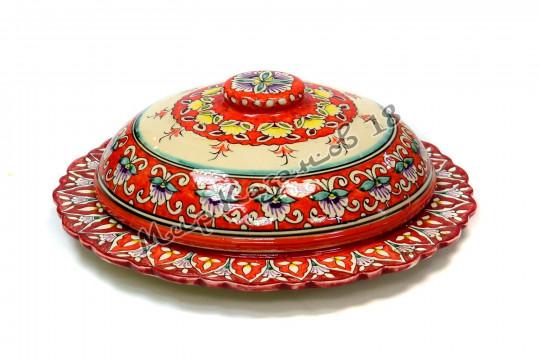 Пловница керамическая 24 см Красная