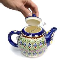 Чайник (фарфор) 1,25 л НАКША синий