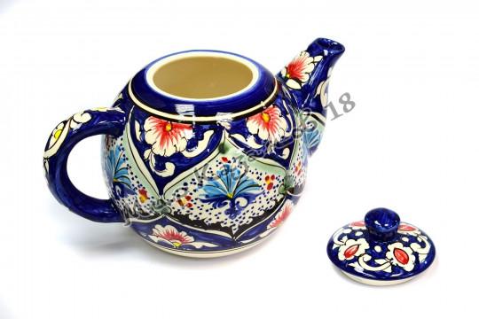 Чайник (фарфор) 1,25 л синий