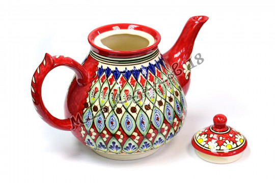 Чайник (фарфор) 2 л НАКША красный