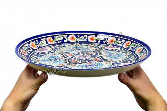 Ляган (фарфор) 36 см ОРИГИНАЛ синий