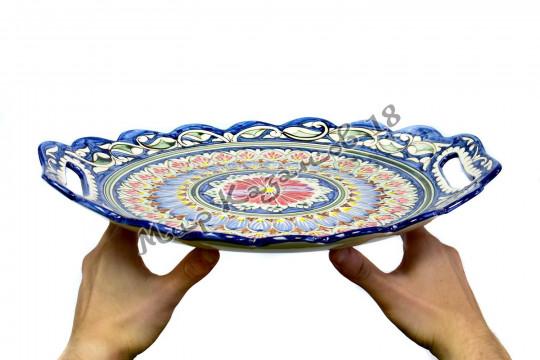 Поднос фруктовый (фарфор) 40 см НАКША синий