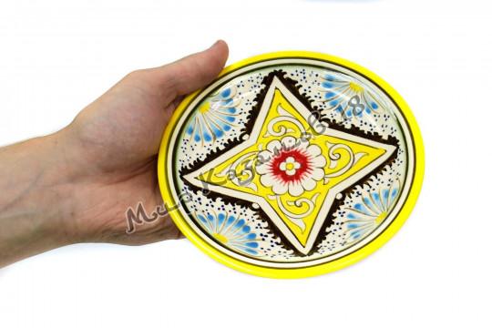 Тарелка (фарфор) 17 см Желтая