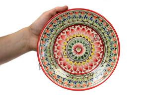 Тарелка (фарфор) 22 см НАКША Красная